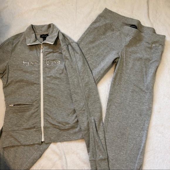 4372f0187e7 bebe Other | Sweatsuit Gray With Zip Jacket | Poshmark